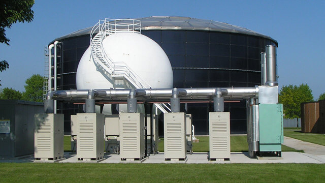 Sheboygan (Wisconsin) Regional Waste Treatment Facility. 10 Capstone 30 kW and 2 Capstone 200 kW microturbines fueled by biogas from the anaerobic digestion of the wastewater treatment process. The microturbines with cogeneration (CHP) have the ability to provide 90 % of the electric energy and 85 % of the heat requirements annually.