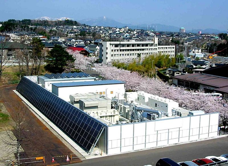 Sendai microgrid was initially designed in 2004 as a demonstration project. After the study was completed in 2008 the microgrid continued in operation. It is located on the campus of Tohoku Fukushi University. Normal load, including a hospital, is about 700 kW. The microgrid has two gas fired generators, each at 350 kW, a 200 kW fuel cell and a 50 kW PV array.