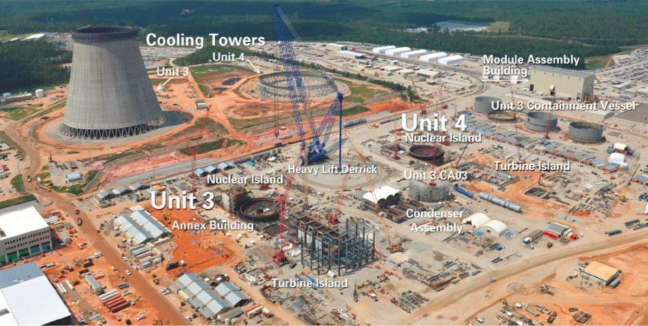 Vogtle 3 and 4 expected to go in operation 2017 and 2018. State-of-the-art nuclear technology, Westinghouse Advanced Passive Technology AP1000 with each unit at 1117 MW. First application filed in April 2008. Construction licence recieved in 2012. Expected life 50 - 70 years. Expected cost $16.5 B with a $8.33 B federal loan guarantee.